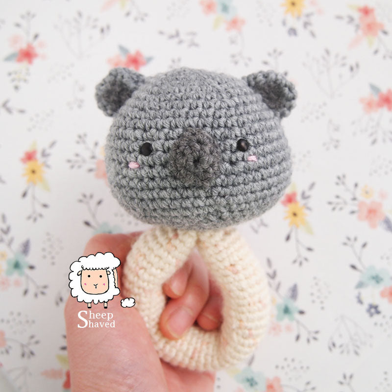 Koala Amigurumi Rattle - Made to Order