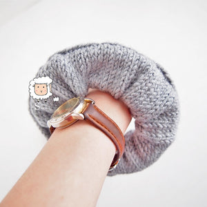 Knitted Scrunchie