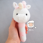 Unicorn Rattle - Made to Order