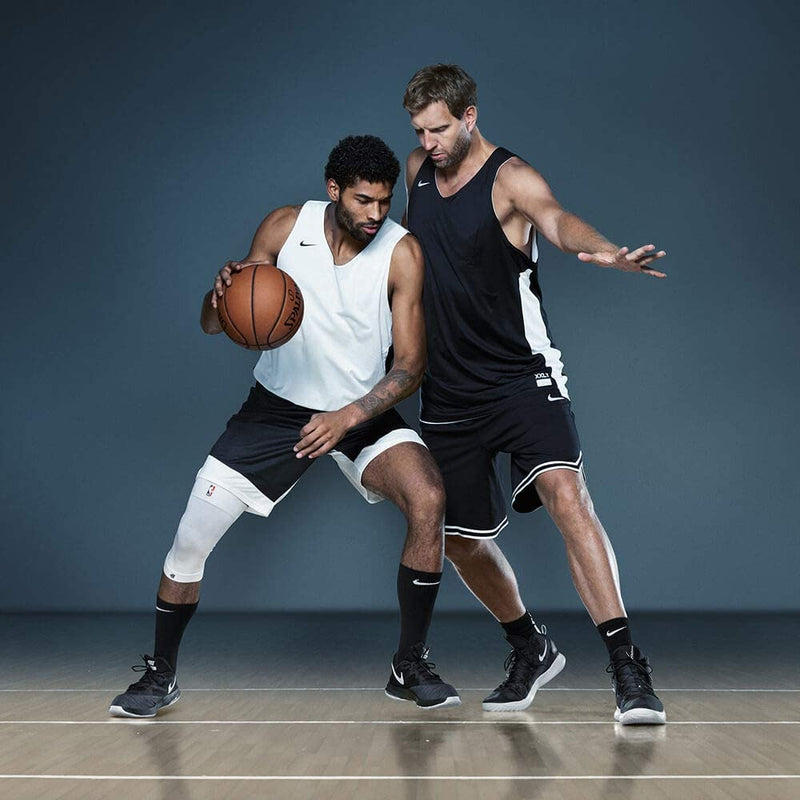 NBA White Sports Compression Knee Support | Ceļa kompresija sportam | 1gab.