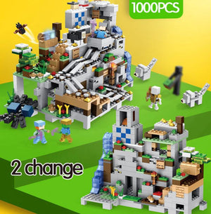 1000pcs My World Mechanism Cave Building Blocks LegoINGLYS Minecrafted Aminal - coolelectronicstore.com