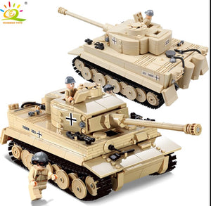Huiqibao 995pcs Military German King Tiger Tank Building Blocks Compatible Army - coolelectronicstore.com