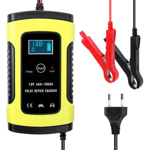 12V 6A Full Automatic Car Battery Charger Power Pulse Repair Chargers Wet Dry Lead Acid Battery-chargers Digital LCD Display - coolelectronicstore.com