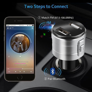 wearable devices Bluetooth Car USB Charger FM Transmitter Wireless Radio Adapter MP3 Player 3.4A - coolelectronicstore.com