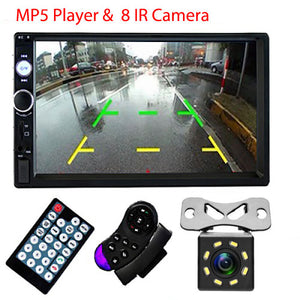 "Podofo 2 din Car Radio 7"" HD Autoradio Multimedia Player 2DIN Touch Screen Auto audio Car Stereo MP5 Bluetooth USB TF FM Camera - coolelectronicstore.com"