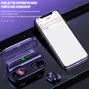 TWS Bluetooth Earphone With Microphone LED Display Wireless Bluetooth Headphones Earphones Waterproof Noise Cancelling Headsets - coolelectronicstore.com
