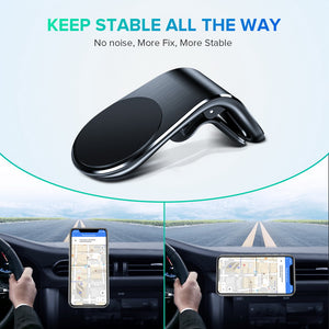 GETIHU Metal Magnetic Car Phone Holder Mini Air Vent Clip Mount Magnet Mobile Stand For iPhone  XS Max Xiaomi Smartphones in Car - coolelectronicstore.com