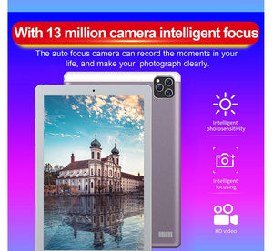 Tablet 10.1 Inch with 6GB + 128GB 1920 * 1200 IPS Screen Android Tablet ARM + DSP Dual-core Wifi Android Tablet HD Screen 3g Blu - coolelectronicstore.com
