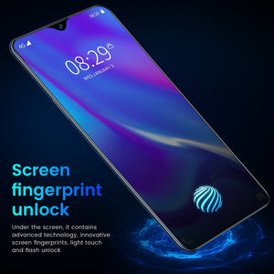 New V17 PRO 6.53 Inch Full-screen Ultrabook Mobile Phone 8 + 256G Screen Fingerprint Unlock Facial Recognition Reflective High- - coolelectronicstore.com