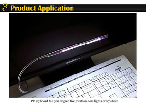 USB LED Light Lamp Flexible Book Reading Lights for Notebook Laptop PC Computer 6 Colors - coolelectronicstore.com