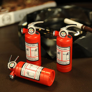 Creative Compact Jet GasLighter LED Light Butane Lighter Inflated Gas Fire Extinguisher Lighter Bar Metal Funny Toys - coolelectronicstore.com