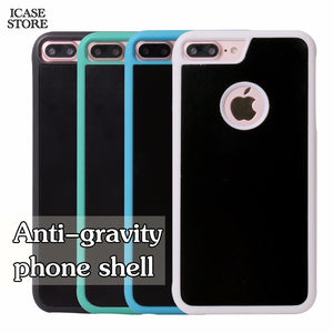 Anti-gravity Phone Case For iPhone X 8 7 6s Plus 6 5S Magical Anti Gravity Nano Suction Back Cover Antigravity case - coolelectronicstore.com