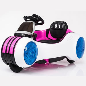 Double battery dual-drive children's electric car space vehicles baby toys can sit four-wheel remote control car motorcycle - coolelectronicstore.com