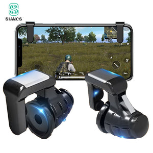 S9 PUBG Mobile Phone Game Trigger Fire Button Gamepad Controller Six Fingers Linkage Gaming Joystick Aim Key Shooter - coolelectronicstore.com