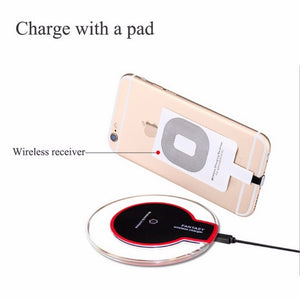 Ultra Thin Led  Wireless Charging Pad For iphone XS X 8 Plus Samsung Huawei Mate 20 Pro Charger - coolelectronicstore.com