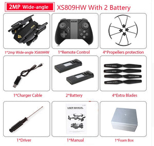 Visuo XS809W XS809HW Quadcopter Mini Foldable - coolelectronicstore.com