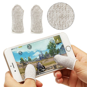1 Pair PUBG Mobile Finger Stall Sensitive Game Controller Sweatproof Breathable Finger Cots Accessories for Iphone Adnroid - coolelectronicstore.com