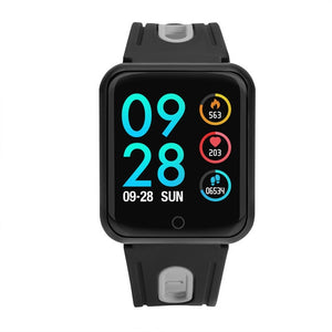 fitness bracelet watch P68 ip68 waterproof  for apple watch xiaomi  ios  Android with heart rate monitor smart band +earphone - coolelectronicstore.com