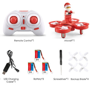 In Stock Eachine E011C Flying Santa Claus With Christmas songs Music Toy Brick RC Quadcopter RTF for Kids Gift VS E011 JJRC H67 - coolelectronicstore.com