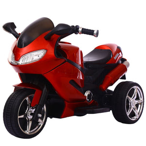 Children's Electric Motorcycle Tricycle The 1-6 Year Old Baby Toy Car with Light Baby Charging Remote Control Motorcycle - coolelectronicstore.com