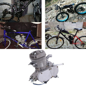 Professional 2 Stroke 80cc Cycle Motor Engine Kit Gas Great For Motorized Bicycles Cycle Bikes Silver - coolelectronicstore.com