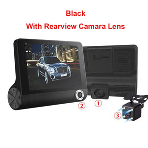 E-ACE Car DVR 3 Cameras Lens 4.0 Inch Dash Camera Dual Lens With Rearview Camera Video Recorder Auto Registrator Dvrs Dash Cam - coolelectronicstore.com