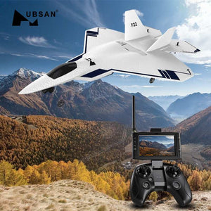 HUBSAN F22 310mm Wingspan EPO FPV RC Aircraft With 720P Camera & HT015B Transmitter With GPS Drone Brushed 2.4GHz 4CH RTF Drone - coolelectronicstore.com