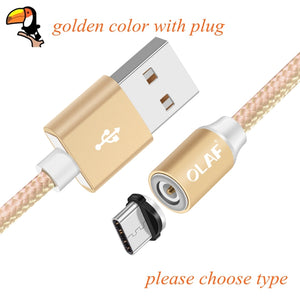Magnetic Charger Cable Micro USB Type C Lighting Cable 2A Fast Charging Adapter USB C/Type-C Wire For iPhone Samsung Cable - coolelectronicstore.com