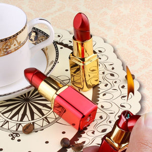 Mini Creative Butane Lighter Cute Lipstick Model Fire Starter Keychain Ring Collection Valentine New Year Gift Bar Club Decor - coolelectronicstore.com