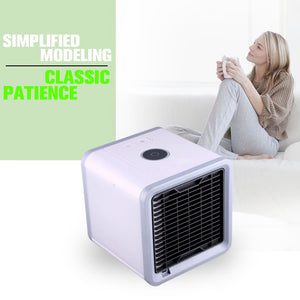 USB Mini Portable Air Conditioner Humidifier Purifier 7 Colors Light Desktop Air Cooling Fan Air Cooler Fan for Office Home - coolelectronicstore.com