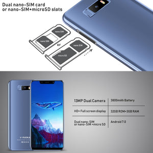 "Note 9 Mobile Phone Android 7.0 5.84""19:9 Full Screen 3GB+32GB 13MP Camera Unlocked Quad Core celular Smartphone - coolelectronicstore.com"