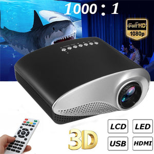 Portable 1080P 3D HD LED Projector - coolelectronicstore.com