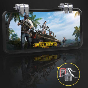 R11S Metal PUBG Mobile Trigger Gamepad Gaming L1R1 Shooter Pubg Mobile Controller Smart Phone Fire Button Aim Key Joystick - coolelectronicstore.com