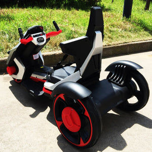 Children's Electric Motorcycle Suitable for 7-12 Year Old Baby 12V7A safe and comfortable Three wheeled motorcycle Ebike - coolelectronicstore.com