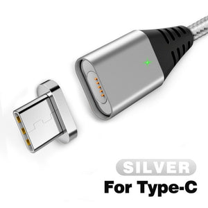 2.4A Quick Charger 3.0 Magnetic Cable For iPhone XS XR X 7 6 Fast Micro USB Type C Magnet Type-C Phone Cable For Samsung - coolelectronicstore.com
