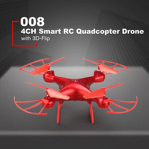 HOT 008 Smart 4CH RC Dron Aircraft UAV with Altitude Hold One Key Take-off Headless Mode 3D Flips Quadcopter for Children Gift - coolelectronicstore.com