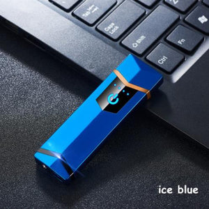 Usb charge electronic lighter windproof thin electric heating wire colorful cigarette lighter - coolelectronicstore.com