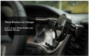Xiaomi 70mai Qi Wireless Car Charger 10W Car Bracket Intelligent Sensor Fast 70 mai Wirless Charger Phone Holder for Car Auto - coolelectronicstore.com