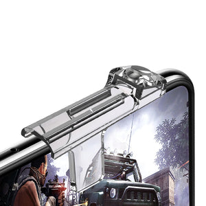 Transparent For PUBG mibile game Phone Gamepad Trigger Fire Button Aim Key Smart phone Mobile Games L1R1 Shooter Controller - coolelectronicstore.com