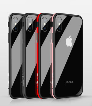 Luxury Nano Glass Phone Case For iPhone XR XS Max XS Metal Frame Back Cover For iPhone X 6 6s 7 8 Plus - coolelectronicstore.com