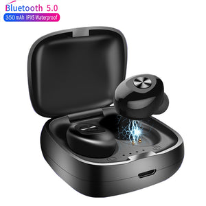 XG12 TWS Bluetooth 5.0 Earphone Stereo Wireless Earbus HIFI Sound Sport Earphones Handsfree Gaming Headset with Mic for Phone - coolelectronicstore.com