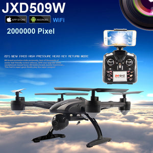 Smart WiFi FPV JXD 509W Android IOS Headless Aerial 6Axis 4CH RC Quadcopter RTF 2MP Camera Drone with Camera JXD 509G - coolelectronicstore.com