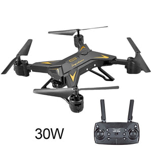 WIFI Altitude Hold Drone Foldable Airplane Led Transmission Four-Axis Aerial View Remote Control - coolelectronicstore.com