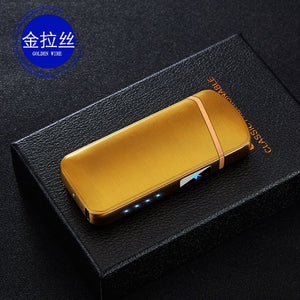 Double Arc Touch Induction Lighter Plasma USB Charging Windproof Flameless Lighters Electronic Cigar Cigarette Lighter Pulsed - coolelectronicstore.com
