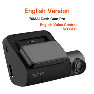 Xiaomi 70mai Dash Cam Pro 1944P GPS ADAS 70 mai pro car Cam Recorder English Voice Control 24H Parking Monitor Night Vision Wifi - coolelectronicstore.com