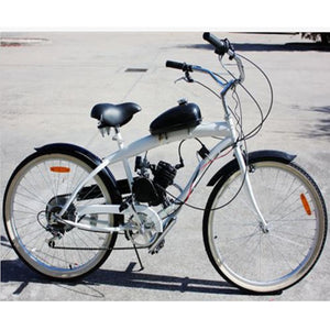 King Way- 50cc Bike Bicycle Motorized 2 Stroke Cycle Black Motor Engine Kit - coolelectronicstore.com