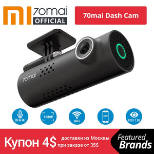 Xiaomi 70mai Car DVR English Voice Control Cam 1080HD Night Vision Dash Cam Wifi 70 mai Car Camera Auto Recorder G-sensor - coolelectronicstore.com