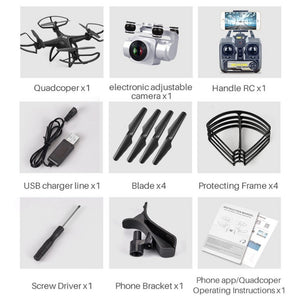 S29 RC Drone 2.4G FPV RC Quadcopter Drone with 1080P Camera Altitude Hold Headless Mode 3D-Flip 20mins Long Flight - coolelectronicstore.com