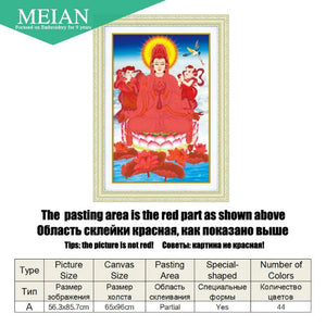 Meian Special Shaped Diamond Embroidery Bodhisattva 5D Diamond Painting Cross - coolelectronicstore.com