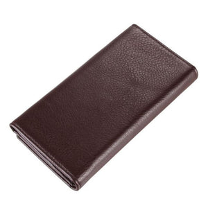 Cow Genuine Leather Men Wallets Fashion Brown Purse New - coolelectronicstore.com